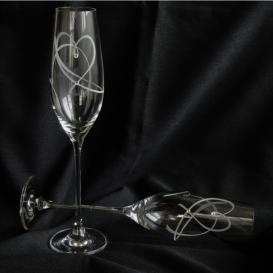 Pohár na šampanské Srdce