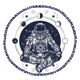 "Froté osuška ""Kozmonaut"" 140cm"